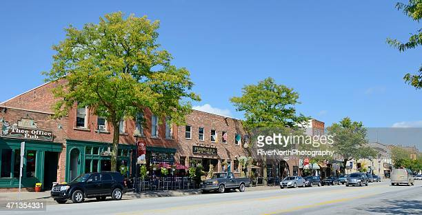 downtown romeo, michigan - romeo stock pictures, royalty-free photos & images