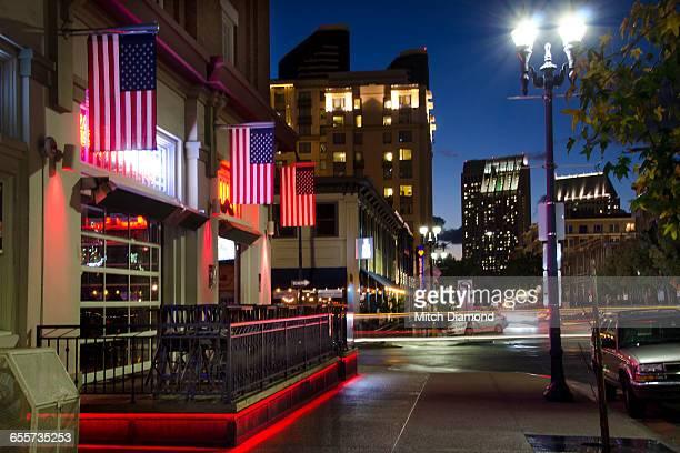 Downtown San Diego evening nightlife