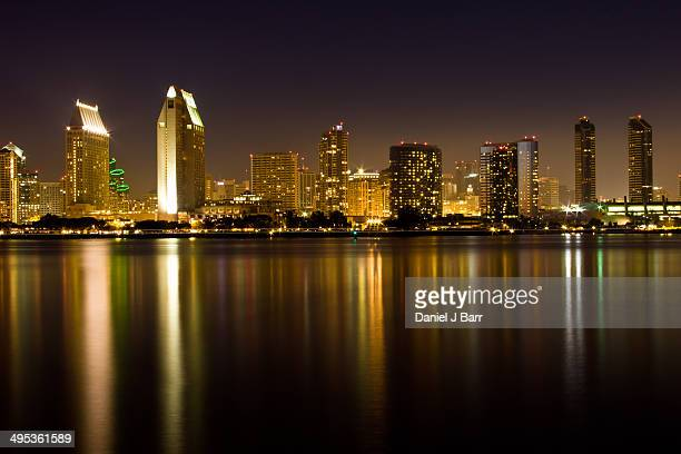 downtown san diego from coronado island - barr stock pictures, royalty-free photos & images