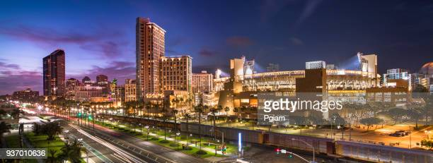 downtown san diego panoramic california usa - san diego stock pictures, royalty-free photos & images