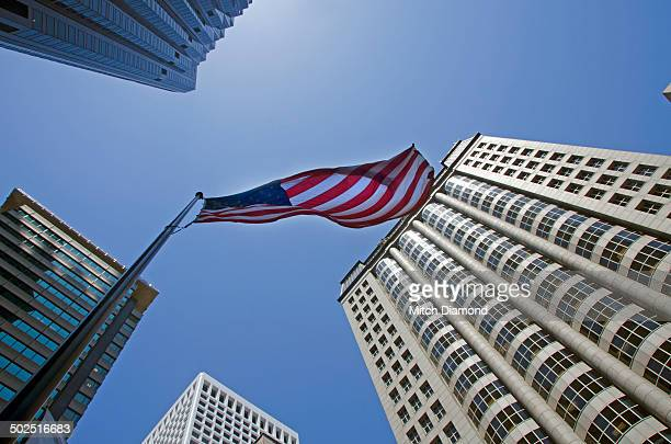 downtown san francisco building - continente americano foto e immagini stock