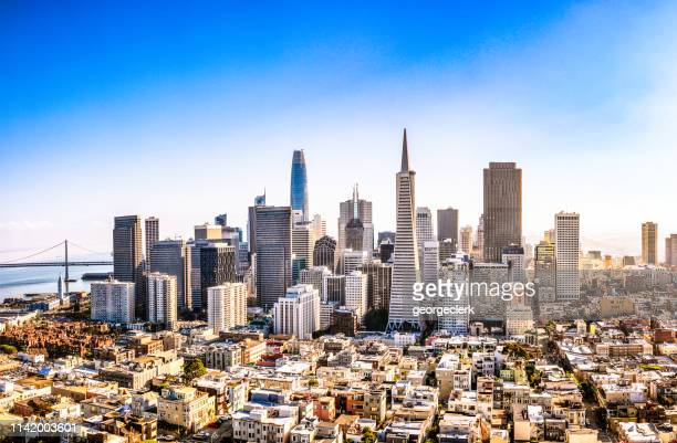 downtown san francisco - california stockfoto's en -beelden