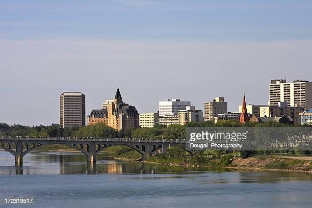 Downtown Saskatoon and South Saskatchewan River