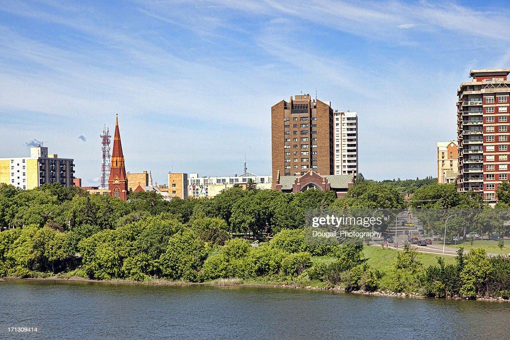 Downtown Saskatoon in Summer : Stock Photo