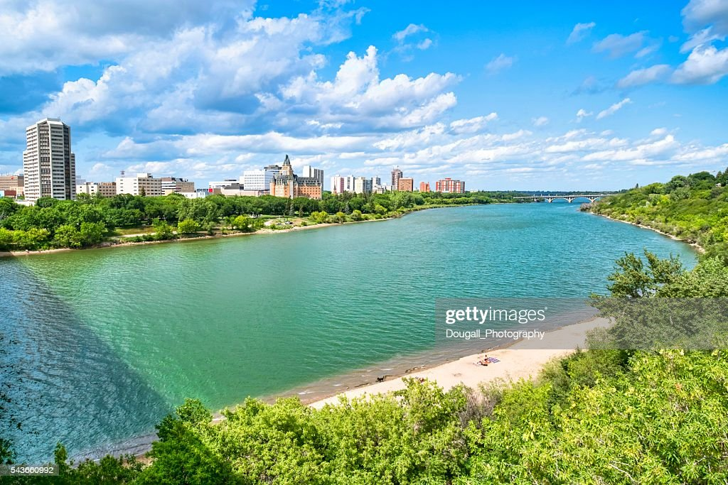 Downtown Saskatoon in Summer. : Stock Photo