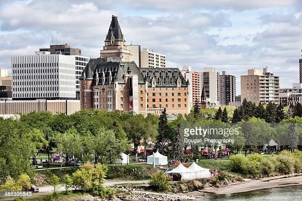 Downtown Saskatoon with Bessborough Hotel During Children's Festival