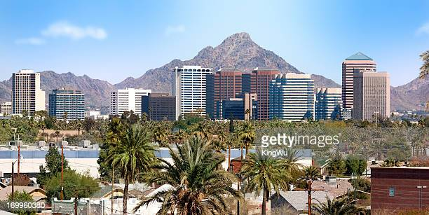 downtown scottsdale and suburbs of phoenix - phoenix arizona stock pictures, royalty-free photos & images