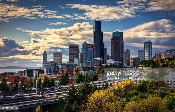 CONTENT] Downtown Seattle Dr Rizal Bridge Seattle 12th Street Bridge Columbia Tower Interstate 5 Seattle Washington Washington State pacific...