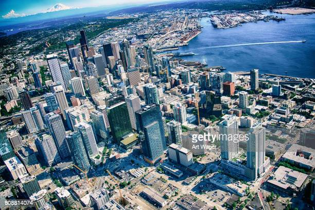 Downtown Seattle Skyline Aerial