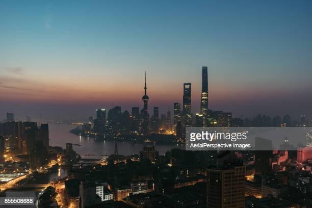 Downtown Shanghai at Dawn
