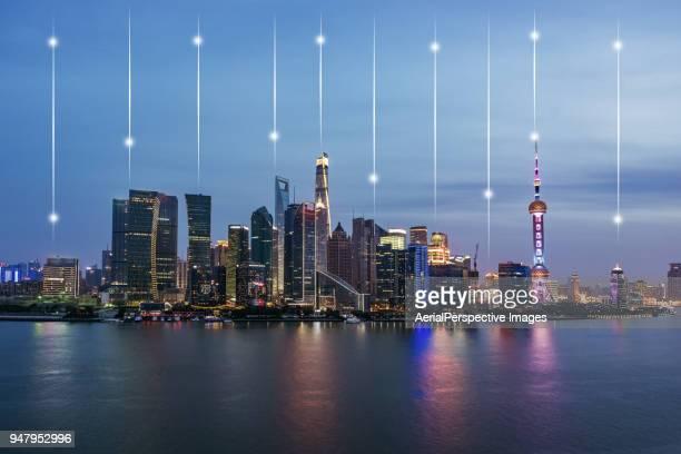 Downtown Shanghai at Dusk