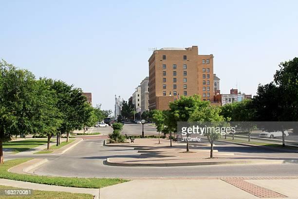 downtown shawnee, oklahoma - oklahoma stock pictures, royalty-free photos & images