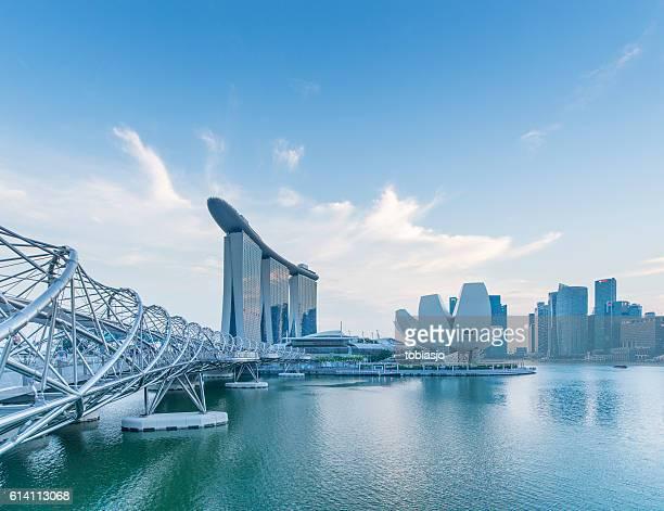 innenstadt von singapur  - marina bay sands stock-fotos und bilder
