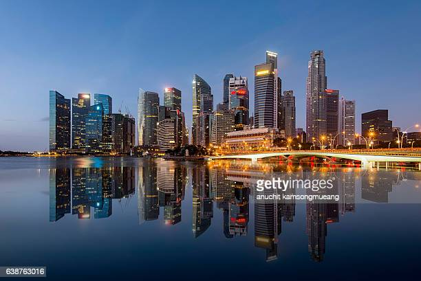 downtown singapore - singapore stock photos and pictures