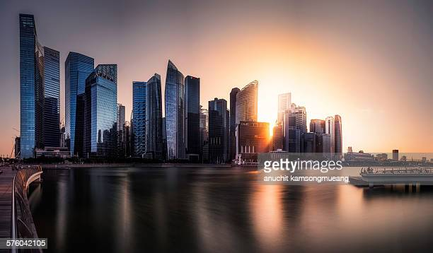 Downtown Singapore sunset