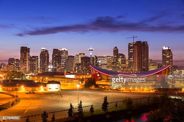 downtown skyline calgary alberta - calgary stock pictures, royalty-free photos & images