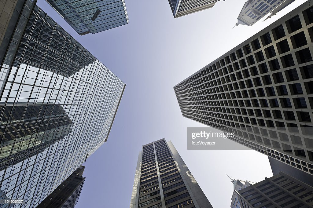 e36064b46610 Downtown skyscrapers soaring city towers business district Hong Kong China    Stock Photo