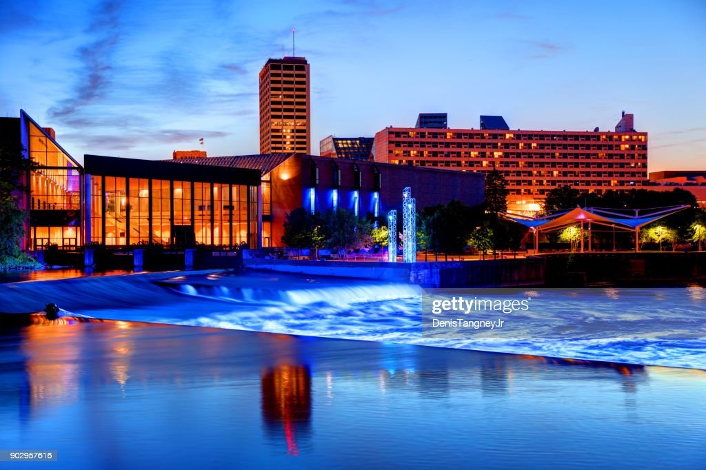 downtown south bend indiana skyline stock photo getty images