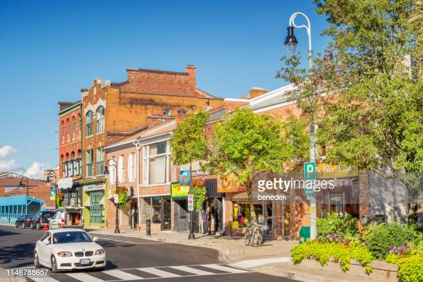downtown st catharines ontario canada - ontario canada stock pictures, royalty-free photos & images