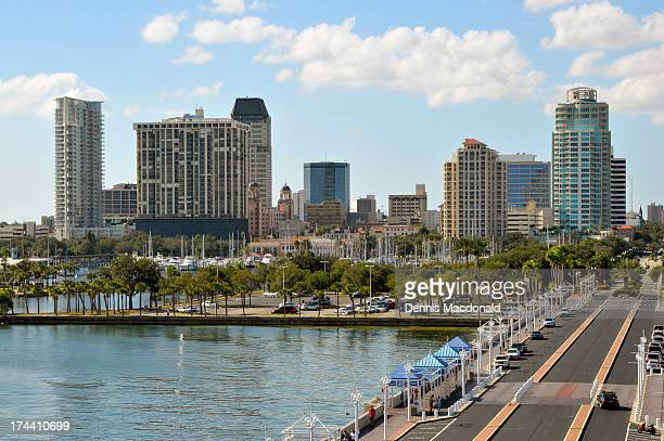 downtown st petersburg, florida - st. petersburg florida stock photos and pictures