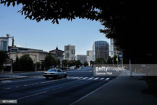 Downtown Stamford is viewed on September 9, 2015 in Stamford, Connecticut. As the global financial industry continues to shrink and go through...