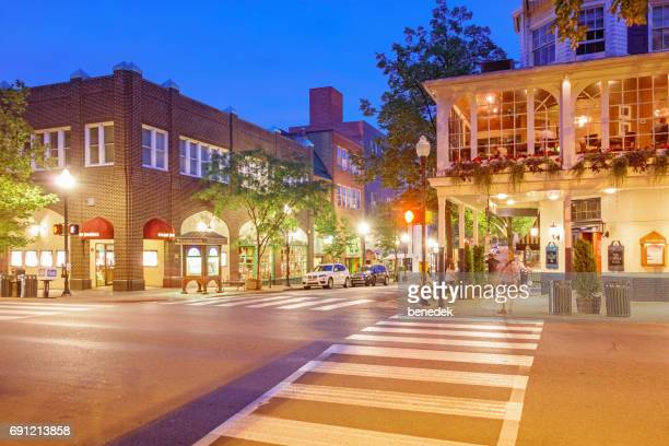 downtown state college pennsylvania usa - state college stock photos and pictures