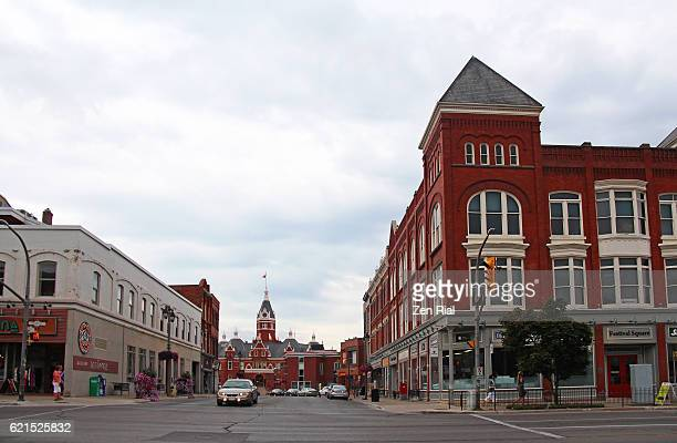 downtown stratford, perth county in ontario, canada - ontario canada stock pictures, royalty-free photos & images