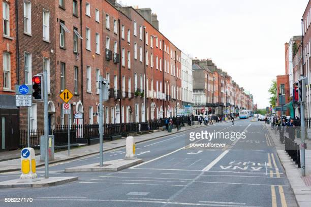 Downtown street in Dublin, Ireland