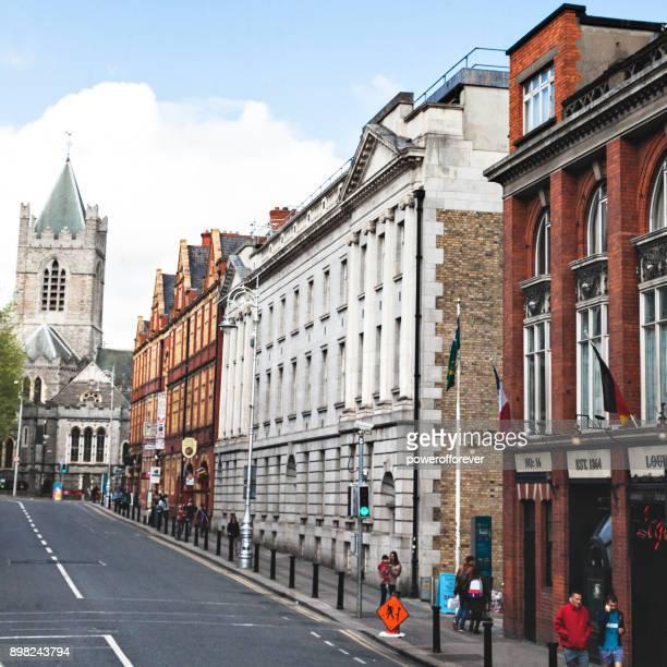 Downtown street in Dublin, Ireland