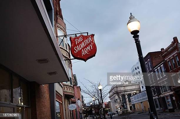 Downtown street is viewed in struggling Binghamton on January 18, 2012 in Binghamton, New York. Binghamton, in the Southern Tier of New York State,...