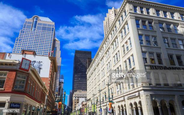 Downtown streets and shops in Calgary, Alberta, Canada