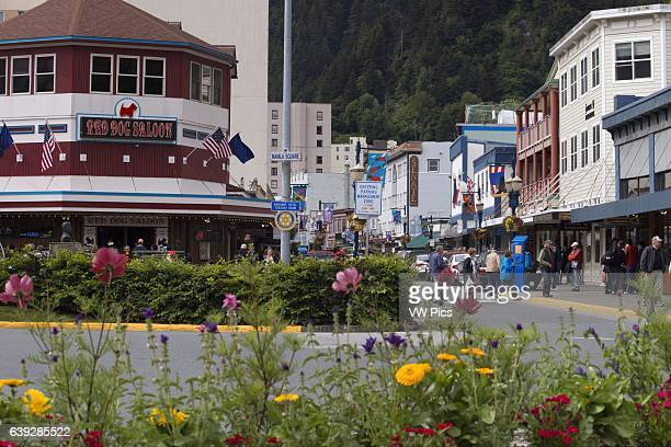Downtown Streets of Juneau S Franklin street Red Dog Saloon Alaska USA The City and Borough of Juneau is the capital city of Alaska It is a unified...