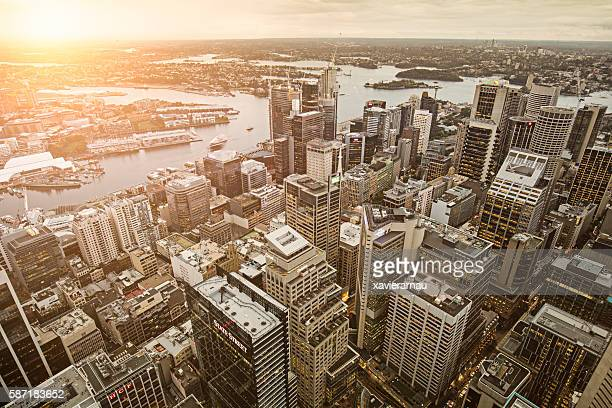 Downtown Sydney at sunset
