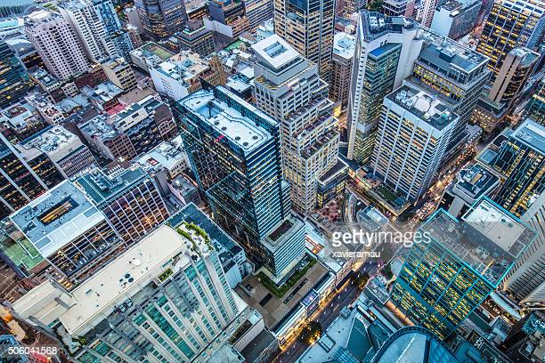 downtown sydney - aerial view stock pictures, royalty-free photos & images