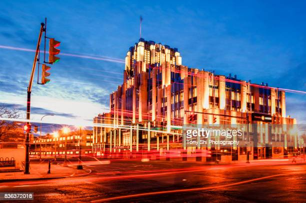 downtown syracuse - niagara mohawk building - syracuse new york stock pictures, royalty-free photos & images