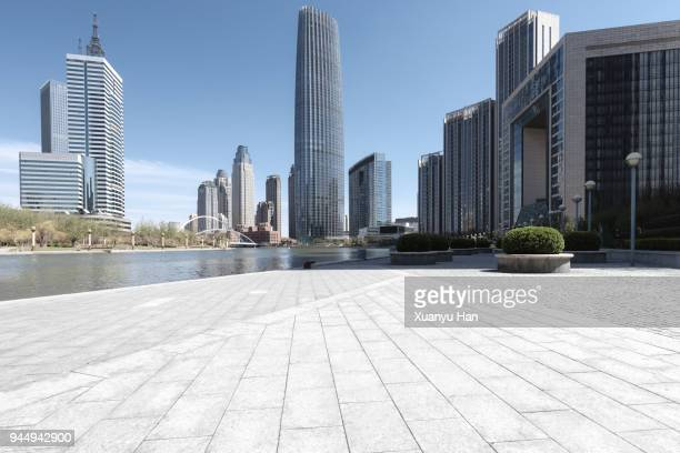 downtown tianjin,china. - business community stock pictures, royalty-free photos & images