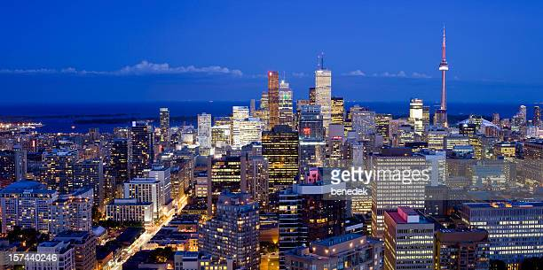 Downtown Toronto at dusk, Canada