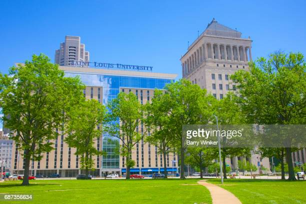 Downtown towers of St. Louis: SLU and Civil Courts Building