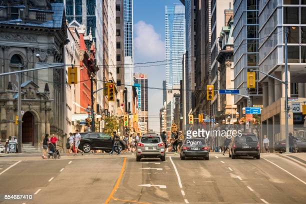 Downtown traffic in Toronto, Ontario Canada