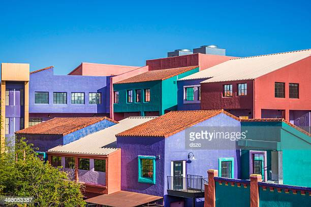 Downtown Tucson Arizona Colorful La Placita Village Multi-Building Complex
