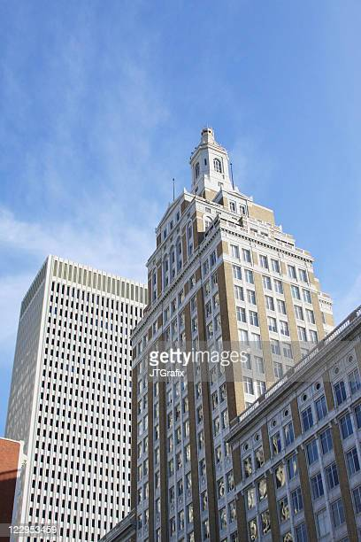 downtown tulsa buildings - old & modern - tulsa stock pictures, royalty-free photos & images