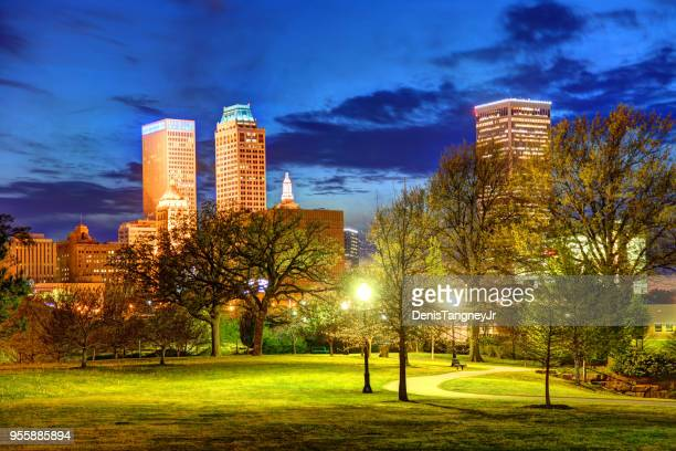 downtown tulsa oklahoma - tulsa stock pictures, royalty-free photos & images
