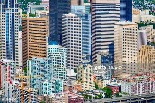 Innenstadt von Urban Full-Frame-Hintergrund