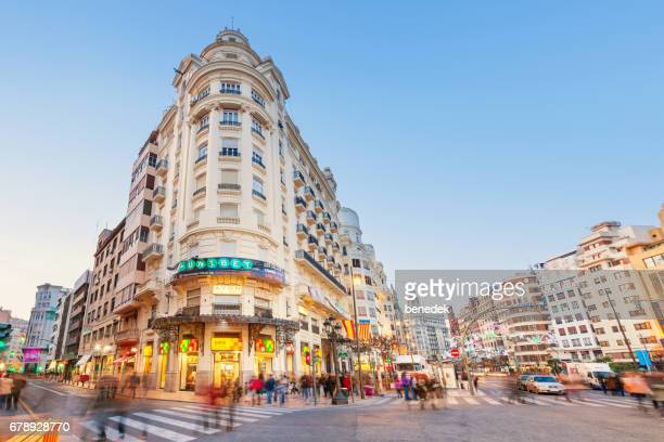 downtown valencia spain - valencia spain stock pictures, royalty-free photos & images
