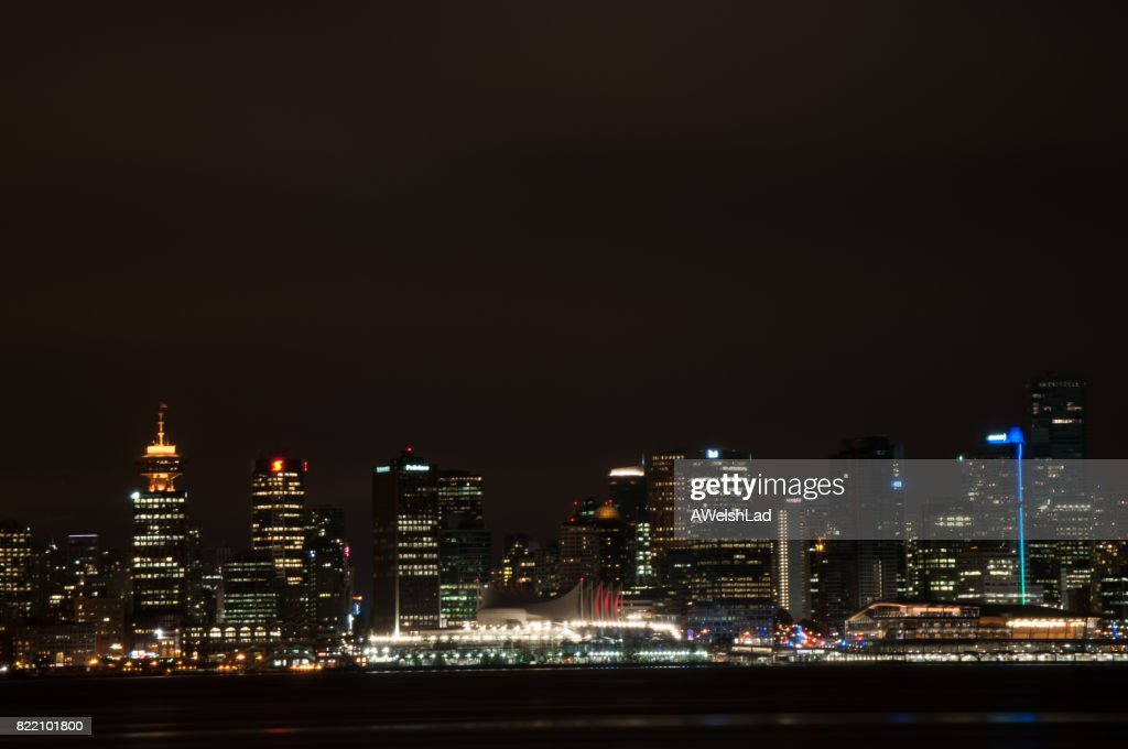 Downtown Vancouver, BC in the evening : Stock Photo