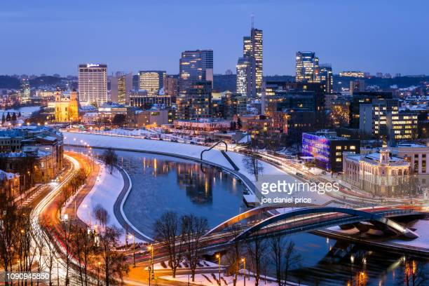downtown, vilnius, lithuania - lithuania stock pictures, royalty-free photos & images