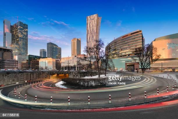 Downtown Warsaw Financial center in Warsaw, Poland.