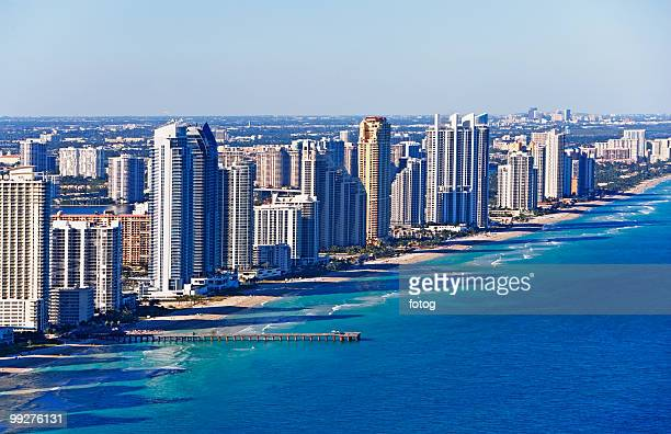 downtown waterfront buildings - fort lauderdale stock pictures, royalty-free photos & images
