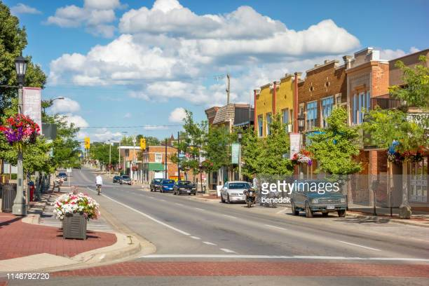 downtown welland ontario canada - ontario canada stock pictures, royalty-free photos & images