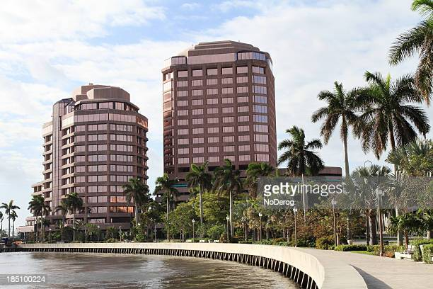 Downtown West Palm Beach along Intracoastal waterfront